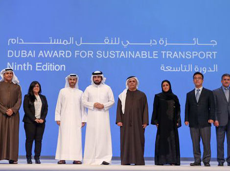 Winners of Dubai Award for Sustainable Transport 2016