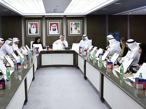 an image of Al Tayer chairing the meeting of the Supreme Committee for Strategic Planning & Corporate Development