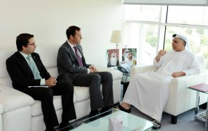 Al Tayer receiving the British Consul in Dubai