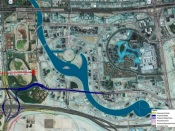 Project image of The development works of parallel roads at Business Bay