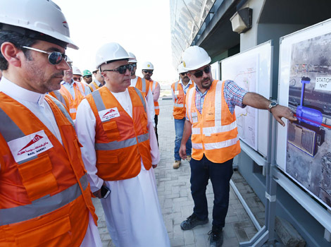 Mattar Al Tayer inspecting work progress in Route 2020 Project