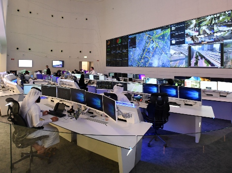 an image from Enterprise Command  and  Control Center signals a shift in mobility and traffic  in Dubai