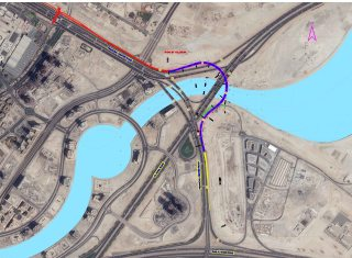 Layout of the bridge from Al Khail Road to the Financial Center Road