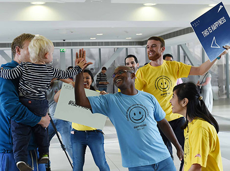 Happiness Journey and High Five events in support of International Day of Happiness