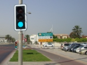 Replacing traffic signals by power-saving system