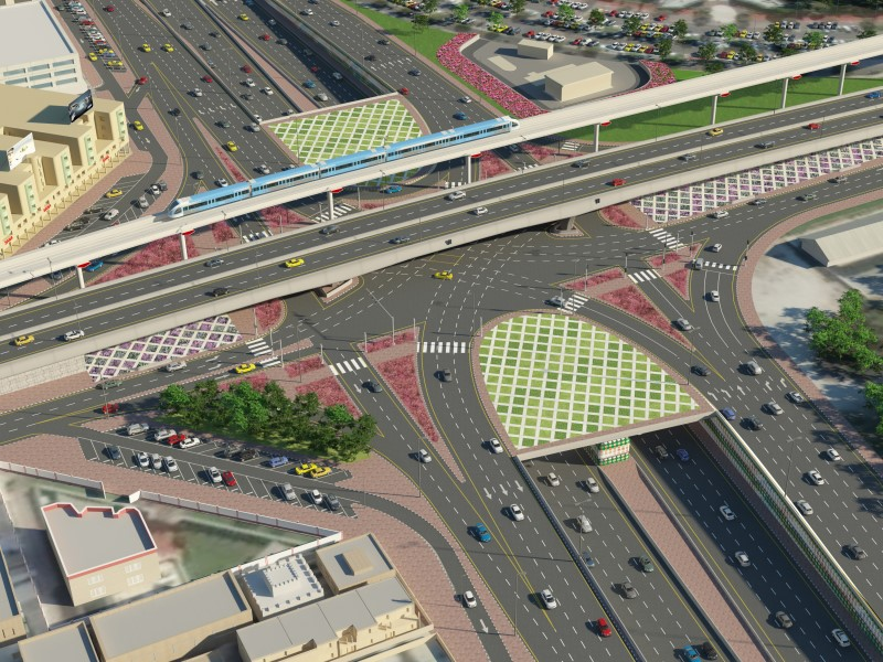 Project image of Project of Sheikh Rashid Rd – Sheikh Khalifa bin Zayed Rd Interchange